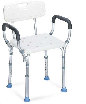 OasisSpace Heavy Duty Shower Chair With Back - Bathtub Chair With Arms For and