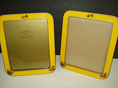Pair Of Large 8X10 Bucklers Enamel Frames With Horse Equestrian Theme