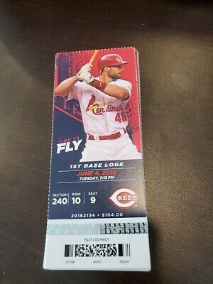 St. Louis Cardinals Cincinnati Reds MINT Season Ticket 6/4/19 2019 MLB Stub