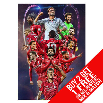 Liverpool Champions League Poster Art Print - A4 A3 A2 A1 A0 Sizes
