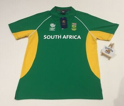 Mens ICC CT SOUTH AFRICA CRICKET POLO SHIRT LARGE 'WORLD CUP BNWT ONE DAY SERIES