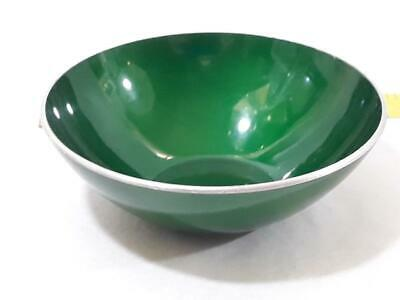 "Mid Century Modern EMALOX Norway 4"" Dark Green Bowl Anodized Aluminum"