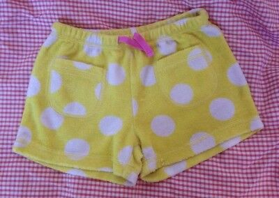 Mini Boden Girl's Yellow With White Spots Shorts Age 6 Years 6 Ans 6 Anos