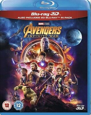 Avengers Infinity War 3D [Blu-ray] New and factory sealed