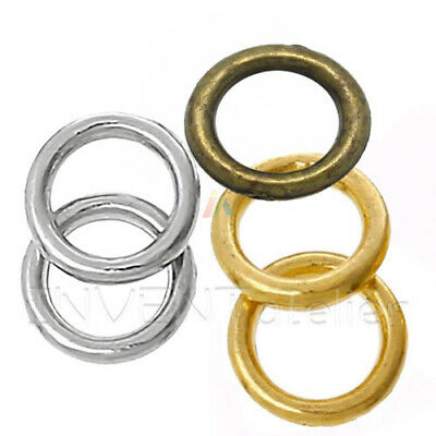 Wholesale Lots SP Soldered Closed Jump Rings 14x2mm Findings