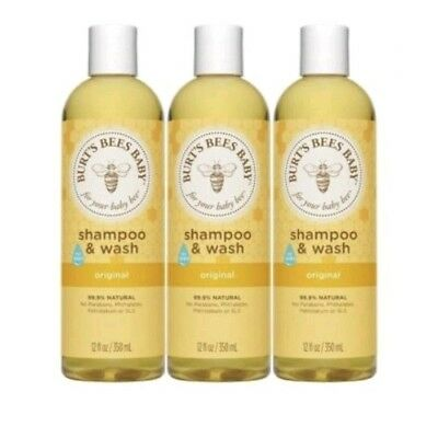 3 Bottles Burt's Bees Shampoo And Wash 235ml x 3