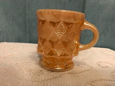 VintageAnchor Hocking/Fire King Peach Luster Mug, Kimberly Pattern, EXCELLENT!