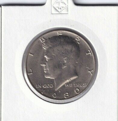 1980 United States of America Kennedy Half Dollar - UPSET ROTATED DIE ERROR COIN