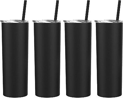 20 Oz Skinny Double Wall Stainless Steel Tumbler 4 Pack