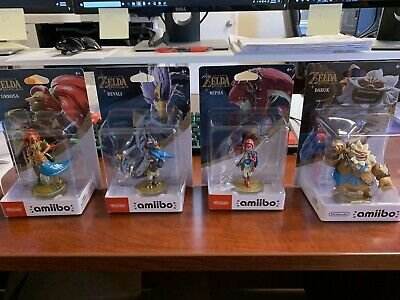 ZELDA BOTW CHAMPIONS Mipha Daruk Revali Urbosa Lot of all 4 amiibo