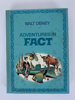 Walt Disney Adventures in Fact Hardcover Story Book Golden Press Vintage 1970