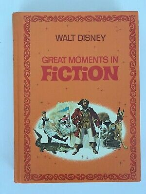 Walt Disney Great Moments In Fiction Hardcover Book Golden Press Vintage 1970