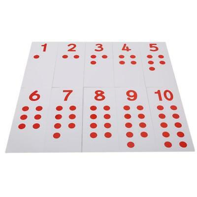 Math Sensory Card Digital Chip Projection Card Kid Counters Toy Card1-10 New JJ