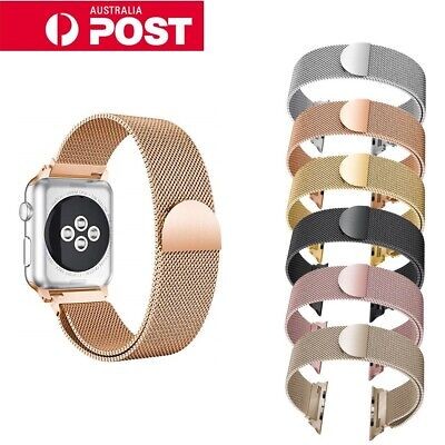 For Apple Watch Series 4,3,2 Milanese Magnetic Stainless Steel Strap iWatch Band