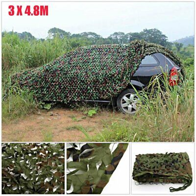 16 x 10FT Woodland Leaves Military Camouflage Net Hunting Camo w/ String Netting