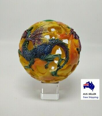 Fantasy Colour Dragon Ball Decorative Ornament with Free Crystal Display Stand