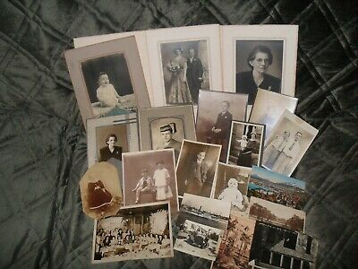 Vintage Photographs blalck & white + post cards late 1800 early 1900 LOT 15
