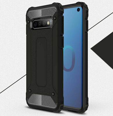 For Samsung Galaxy S10 5G Case Heavy Duty Rugged TPU Hybrid Rugged Cover Black