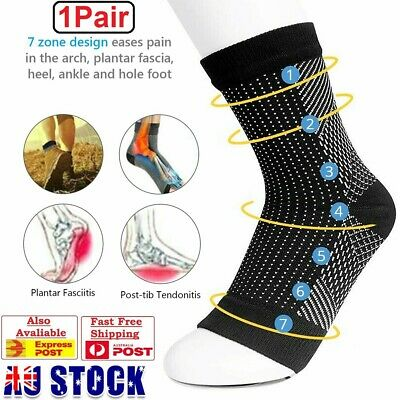 Foot Angel Compression socks Sleeve Plantar Arthriti Heel Pain Protect Ankle AU