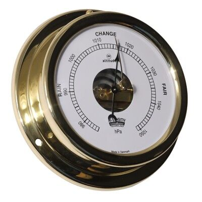 Barometer Hi-Sensitiv by Altitude Made of Brass with Sichtwerk for Boat & Ship
