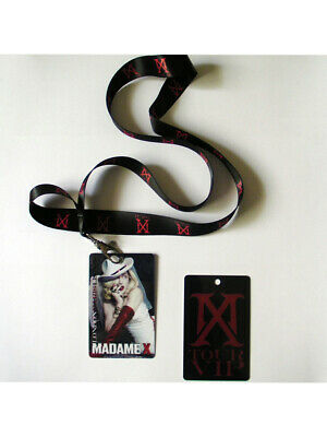 Madonna Madame X Tour Lanyard and laminate RED card no sticky and sweet mdna
