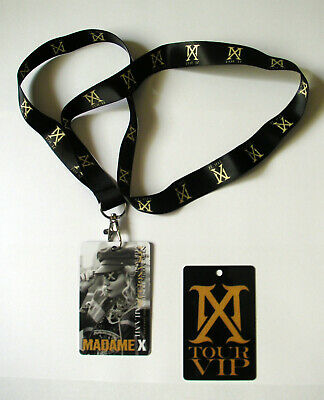 Madonna Madame X Tour Lanyard and laminate YELLOW card no sticky and sweet mdna