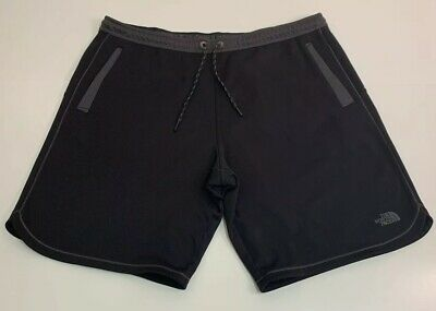 """The North Face Men's XL Black Athletic Gym Workout Drawstring Shorts 10"""" Inseam"""