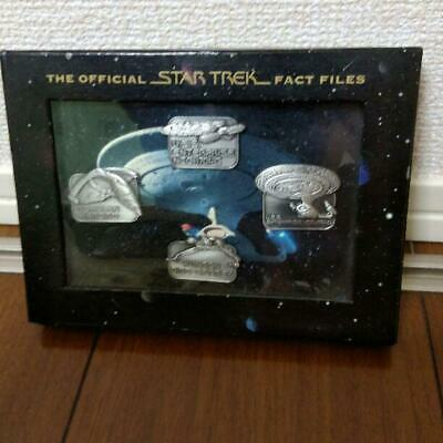 Star Trek FACT FILES Pin Badge Set Enterprise Klingon Romulan
