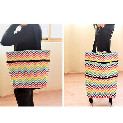 1PC Washable Foldable Eco-Friendly Shopping Trolley Bag for Camp Shopping Travel