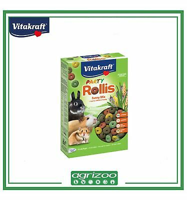 VITAKRAFT Rollis Party Snack per Roditori Conigli Nani Cavie Criceti Hamster