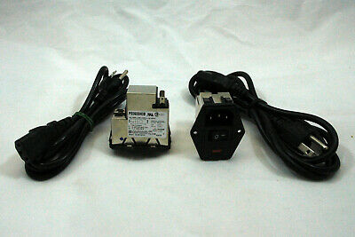Corcom TE Connectivity EMI Filter AC Power Entry Module PS0S0DH3B w/ POWER CORDS