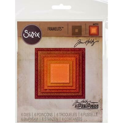 Tim Holtz Alterations by Sizzix Stitched Squares Framelits Die Set, Retired