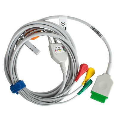 One-Piece 3 Leads ECG Cable fit For GE Marquette