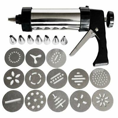 MisterChef® Biscuit Gun Including Various Shapes, Stainless Steel, Silver/Black