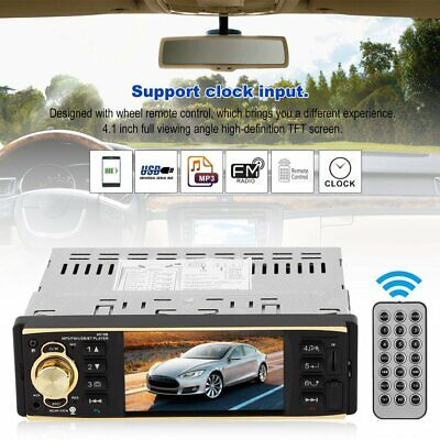 "4.1"" 1Din Stereo Car Vehicle MP5 4019 Player Bluetooth In-Dash FM Radio Audio"