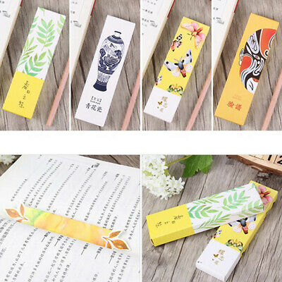 30pcs /Box China Style Bookmark Paper Bookmarks Stationery Supplies Kids Gift