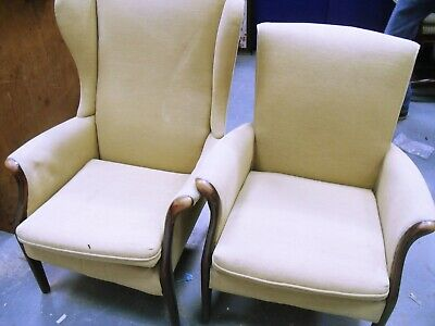 Vintage Pair of Parker Knoll Armchairs Conservatory Fireside (WH_8032)