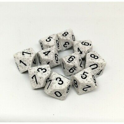 Set d10 Speckled Artic Camo - Chessex CHX 25111