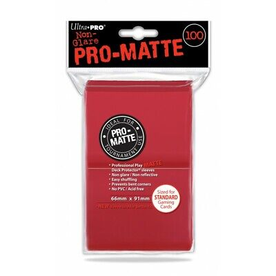 UP - PRO MATTE STANDARD SIZE - RED (100 bustine protettive)