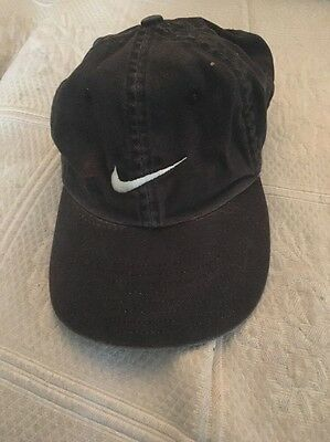 sneakers for cheap 6e5a0 db0c0 Nike Phillip II Cap Adjustable Backstraps Black Swoosh Emblem
