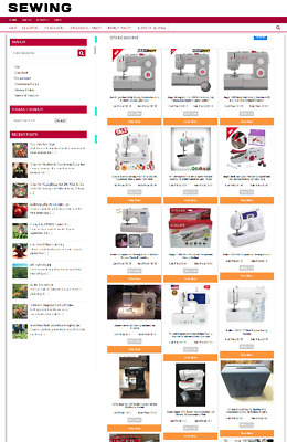 Sewing Supplies Uk Website Ecommerce Business 1 Year Hosting + New Domain