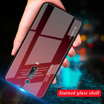 For Xiaomi Redmi K20/K20 Pro Hybrid Bumper Gradient Tempered Glass Case Cover