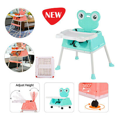 Baby Foldable High Chair Recline Feeding Highchair Adjustable Seat Table 5 in 1