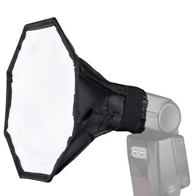 "20cm/8""Octagon Photo Studio Strobe Flash Umbrella Softbox Diffuser SpeedlightDDE"