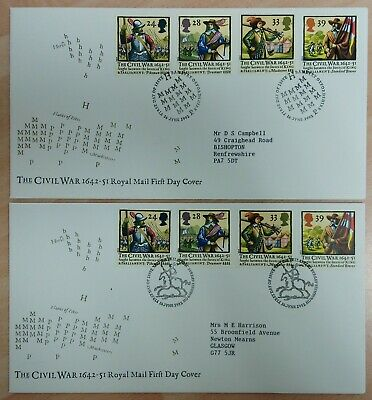 The Civil War 1642—51 First Day Covers (x2)