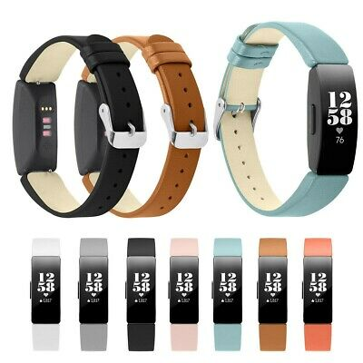 Solft Women Genuine Leather Wristband Strap For Fitbit Inspire/Inspire HR Band L