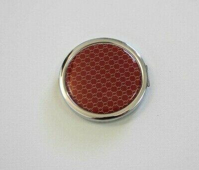 Vintage Compact - Oroton Powder Compact - Red & Silver