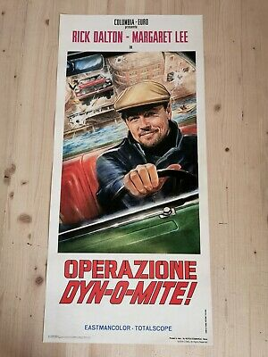 """ONCE UPON A TIME IN HOLLYWOOD Promo Movie Poster 12x27"""" Italian TARANTINO"""