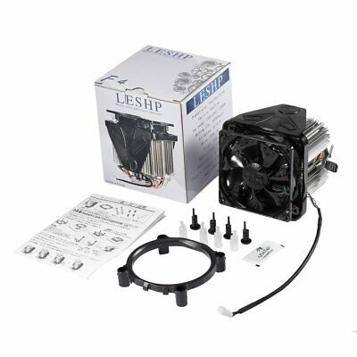 LESHP CPU Cooler Ultra Quiet with 90mm Fan Four-wire for PC Computer Long Life