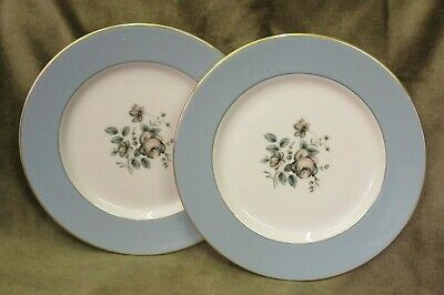 """2 NEW & UNUSED Royal Doulton Rose Elegans 9"""" Plates TC 1010 - more available"""